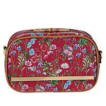 IMAN Global Chic Floral Print Crossbody Bag