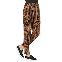 IMAN Global Chic Printed Ankle Pant