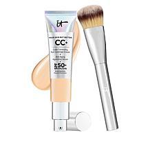 IT Cosmetics Light Med Full Coverage SPF 50 CC Cream with Plush Brush