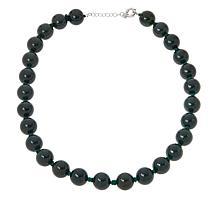 Jade of Yesteryear Sterling Silver Jade Beaded Necklace