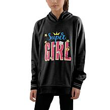 Jake and Anna Kids' French Terry Super Girl Hoodie