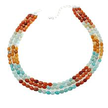 "Jay King 3-Strand Amazonite-Quartzite Bead 18"" Necklace"