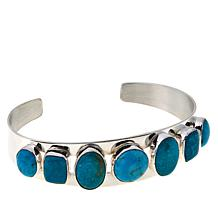 Jay King 7-Stone Sonoran Turquoise Sterling Silver Cuff Bracelet