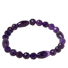 Jay King Amethyst Bead Stretch Bracelet