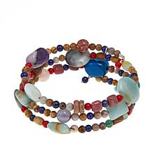 Jay King Multicolor Multigemstone Coil Bracelet