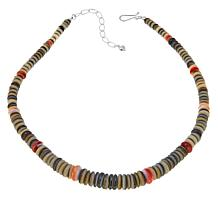 "Jay King Spiny Oyster and Black Shell 18"" Necklace"