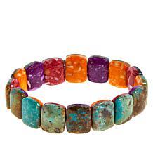 Jay King Gemstone and Turquoise Reversible Stretch Bracelet