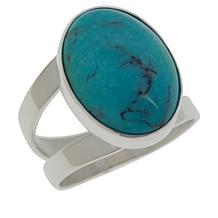 Jay King Sterling Silver Azure Peaks Turquoise Oval Ring