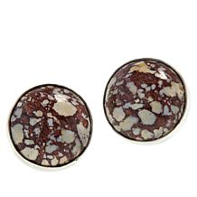 Jay King Sterling Silver Brecciated Tawny Port Stone Earrings