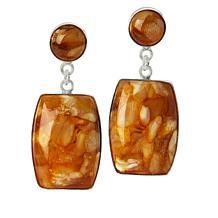 Jay King Sterling Silver Butterscotch Amber Drop Earrings