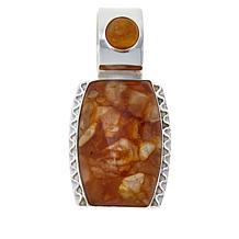 Jay King Sterling Silver Butterscotch Amber Pendant