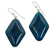 Jay King Sterling Silver Gemstone Diamond-Shaped Drop Earrings