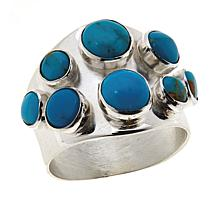 Jay King Sterling Silver Gold-Color Matrix Turquoise Ring