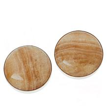 Jay King Sterling Silver Larch Calcite Stud Earrings