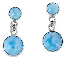 Jay King Sterling Silver Larimar Drop Earrings