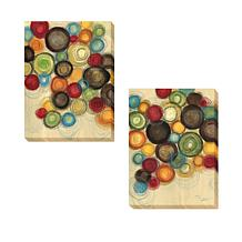 """Jeni Lee """"Colorful Whimsy"""" 2pc Canvas Giclee Set"""