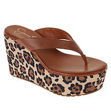 Jessica Simpson Stilla Slip-On Thong Wedge Sandal