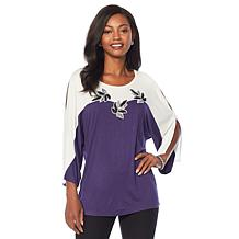 Joan Boyce Long Sleeve Colorblock Top