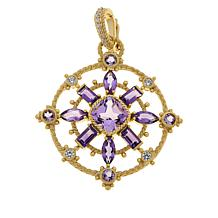 Judith Ripka Amethyst and Diamonique® Open Work Pendant