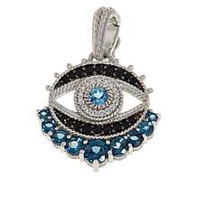 Judith Ripka Blue Topaz, Spinel and Diamonique® Evil Eye Pendant