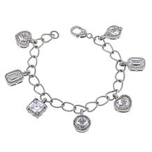 Judith Ripka Diamonique® Multi-Shaped Charm Bracelet