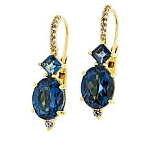 Judith Ripka London Blue Topaz and Diamonique® Drop Earrings