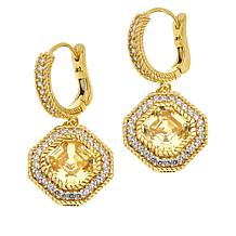 Judith Ripka Sterling Silver or Gold-Plated Diamonique® Drop Earrings