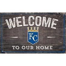 KC Royals 11x19 Welcome to our Home Sign