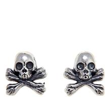 King Baby Jewelry Skull and Crossbones Stud Earrings