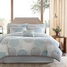 Knowles Full 9pc Complete Bed and Sheet Set - Aqua