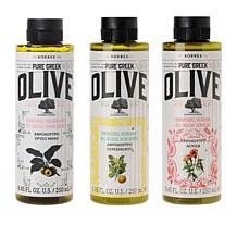 Korres 3-piece Pure Greek Olive Oil Shower Gel Collection