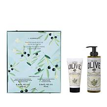 Korres Pure Greek Olive Oil & Olive Blossom Winter Hand Rescue 2pc Set