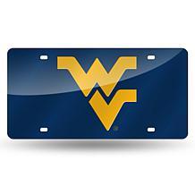 Laser Tag License Plate - West Virginia University (Blue)