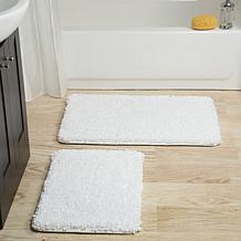 Lavish Home Memory Foam Shag 2-piece Bath Mat Set