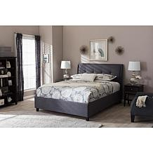 Lea Fabric Upholstered Queen Size Storage Platform Bed