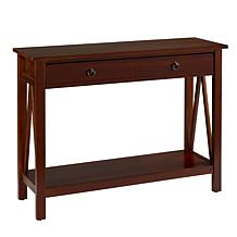 Linon Home Thomas Console Table - Antique Tobacco