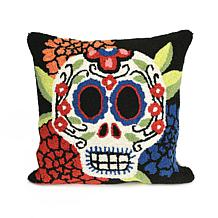 "Liora Manne Frontporch Mrs. Muerto 18"" Square Pillow"