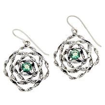 LiPaz Sterling Silver Floral 1.4ctw Fluorite Earrings