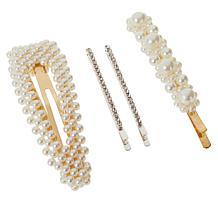 Locks & Mane 4-piece Barrette Hair Accessories Set