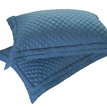 Lotus Home Stayclean Diamondesque Microfiber Quilted Shams