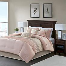 Madison Park Amherst 7-Piece Comforter Set Blush/Taupe
