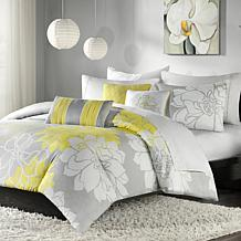 Madison Park Lola Comforter Set Gray/Yellow