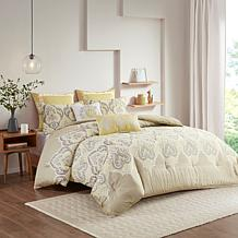 Madison Park Nisha Yellow Comforter Set