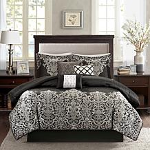 Madison Park Vanessa Black 7-piece Comforter Set