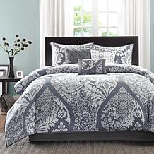 Madison Park Vienna Gray Comforter Set - Queen