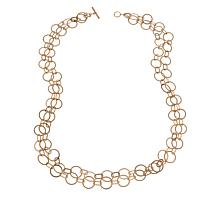 "MarlaWynne 46"" Matte Multi-Link Chain Necklace"