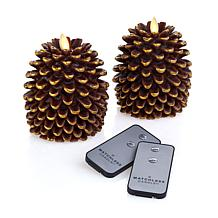 Matchless Flameless Pinecone Candle 2-pack