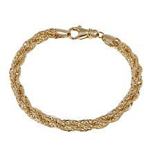 "Michael Anthony Jewelry® 10K 6mm Rope Chain 7-1/2"" Bracelet"
