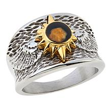 Michael Anthony Jewelry® 2-Tone Nativity Stone Wing Ring