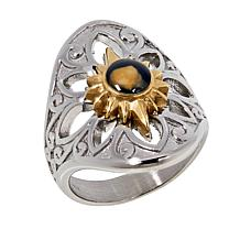 Michael Anthony Jewelry® Stainless Steel Two-Tone Nativity Stone Ring